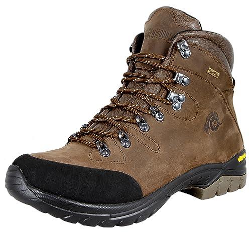 b244ad0cf4976 GUGGEN MOUNTAIN Gli uomini scarpe da trekking scarpe da trekking alpinismo  Stivali scarponi da montagna impermeabili con suola Vibram HPM50   Amazon.it  ...