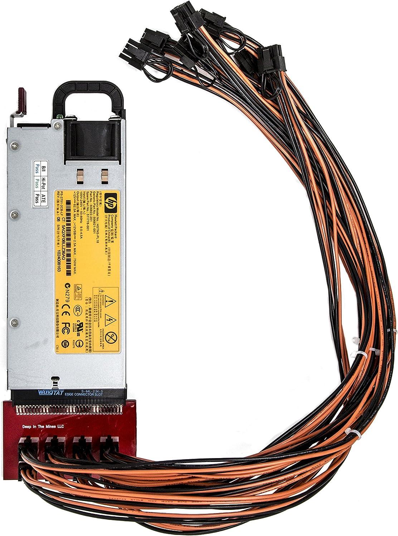 ZEC 94/% Platinum 750 Watt Power Supply for GPU Open Rig Mining ~ Ethereum