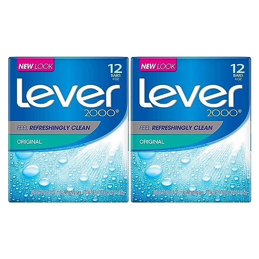 Lever 2000 Bar Soap, Original 4 oz, 12 Bar