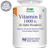 Pronutrition Vitamin E Complex 1000 IU gluten free 90 Veg capsules