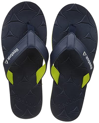 0b5c9952490c1a Reebok Men s Gradient Flip Iii Navy Yellow Metsilver Wht House Slippers - 8