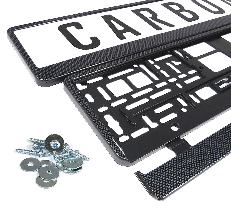 Kennzeichenhalter Nummernschildhalter Carbon Kennzeichenhalterung (schwarz - carbon) L&P Car Design GmbH A163