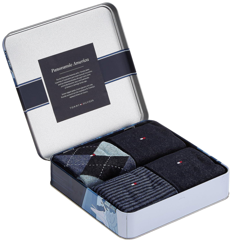 Pack 4 calcetines hombre Tommy Hilfiger variados Dark Navy (43-46): Amazon.es: Ropa y accesorios