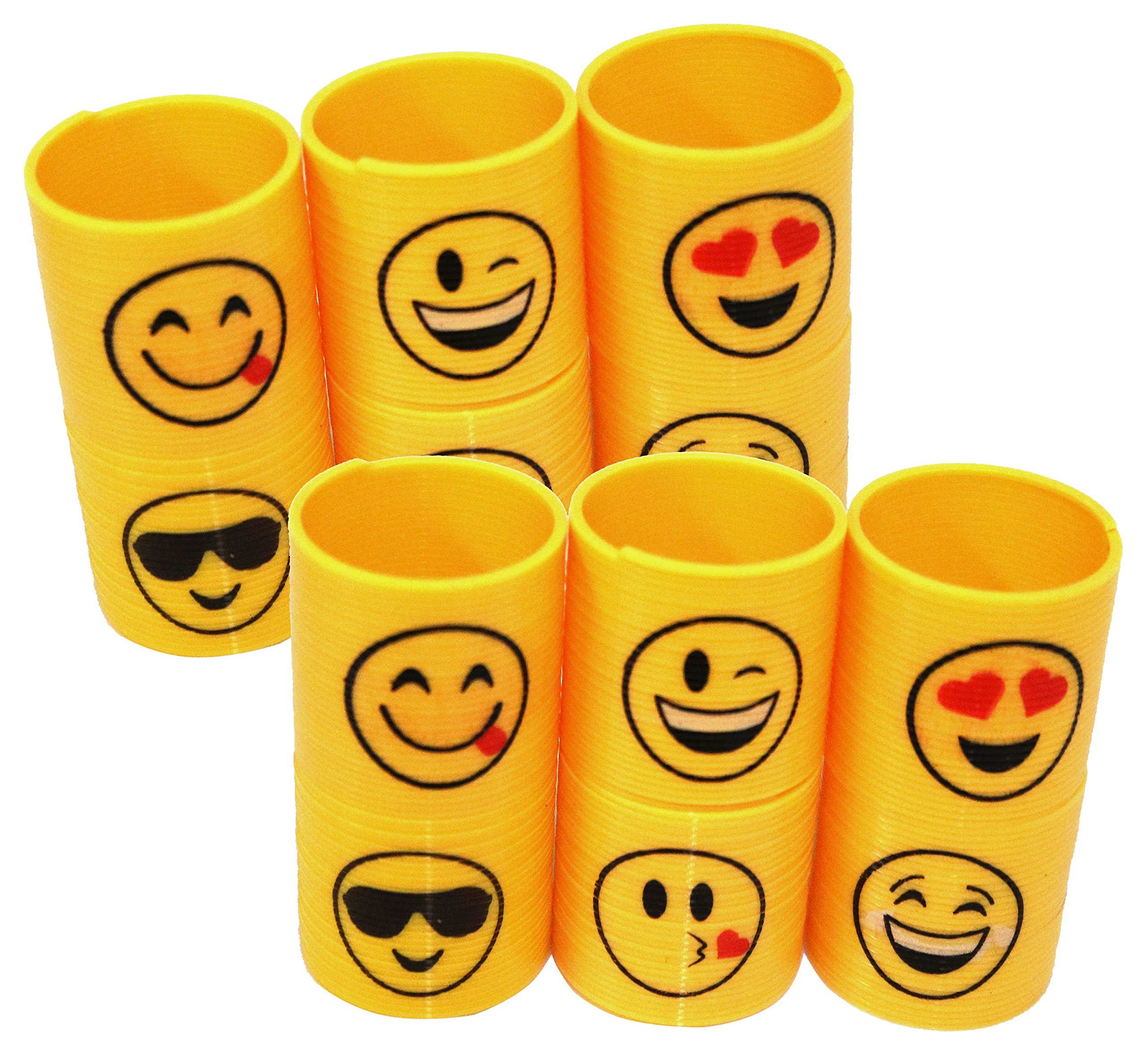Emoji Coil Springs Fun Slinky Great Party Favor And School Classroom Reward 24 Pack Of Emoji Plastic Springs