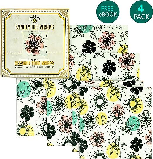 KYNDLY Envoltorio para alimentos de cera de abeja. Envoltorios ...