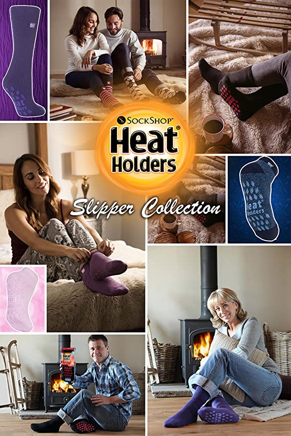 Heat Holders-Homme 2.3 Tog hiver chaud épais antidérapants Low Cut Cheville Thermique