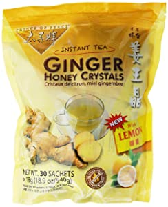 PRINCE OF PEACE Ginger Honey Crystals withlemon 30 Bag, 0.02 Pound