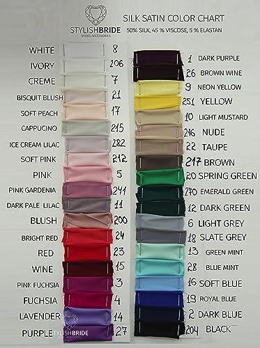 Amazon Silk Sash Silk Satin Bow Tulle Skirt Matching 38 Colors