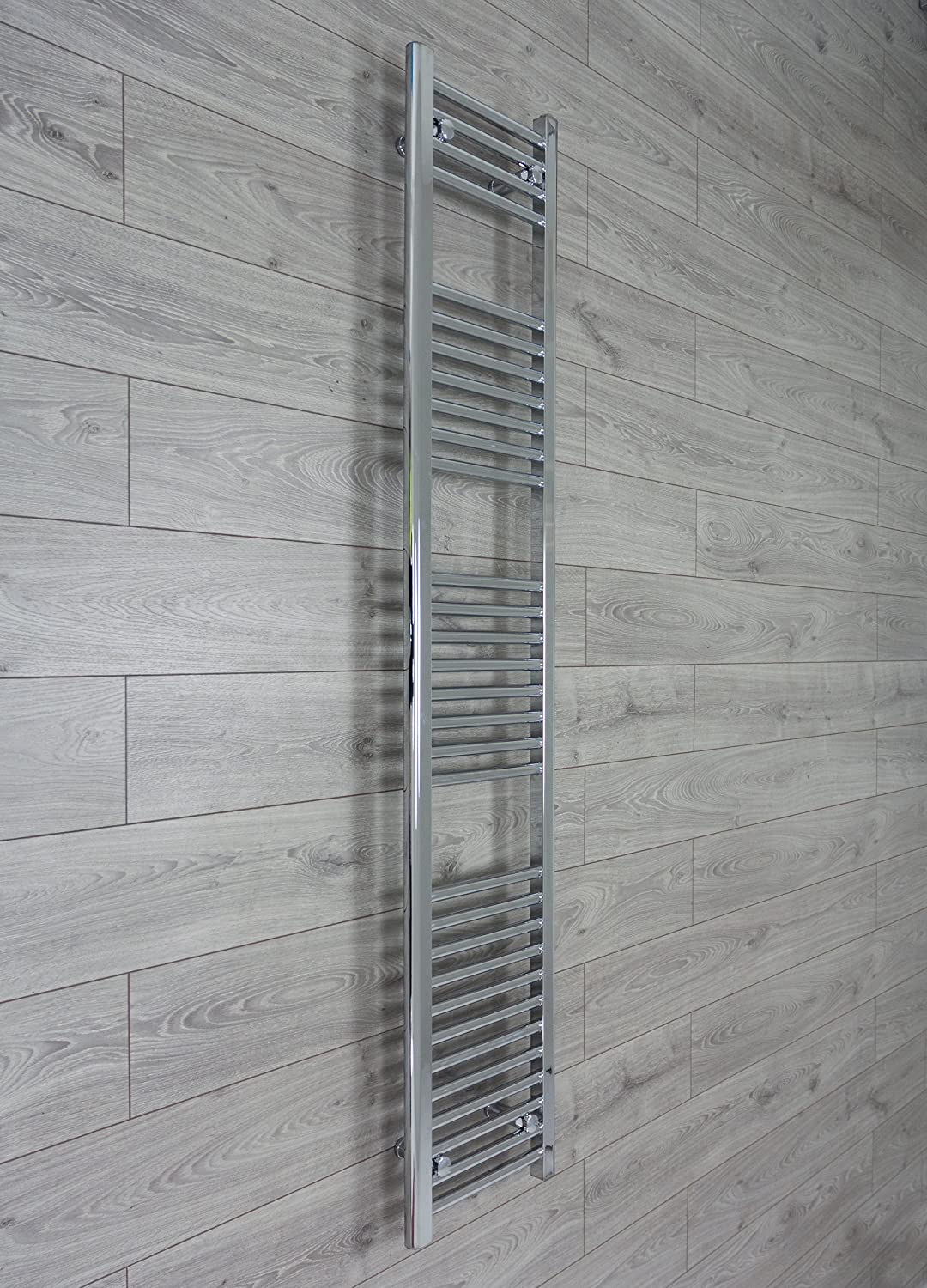 300mm Wide 1800mm High Heated Towel Rail Straight Flat Chrome Bathroom Warmer Bathroom Radiator Rack Central Heating