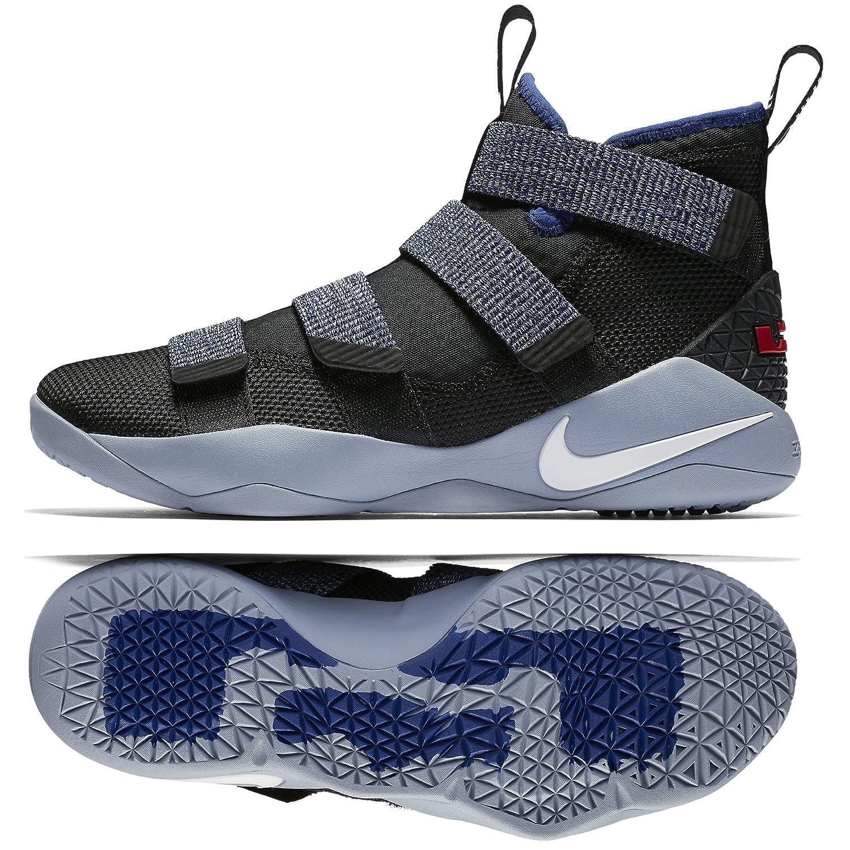 svart vit Deep blå 005 Nike Mans Lebron Lebron Lebron Soldier Ix Basketballskor  blixtnedslag
