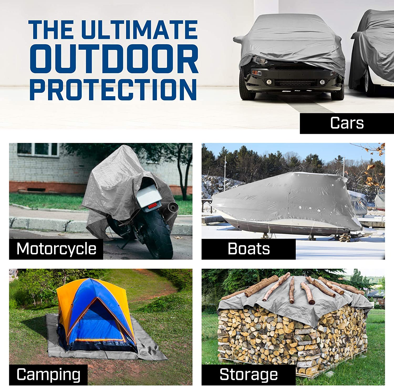Tarp Army Green Premium Tarpaulin 2x2m with Eyelets Wood Stable Car Cargo Coverage 560g//m/² Waterproof /& Tear resistant Tarpaulin universal for Furniture Camping or Ga Trampoline