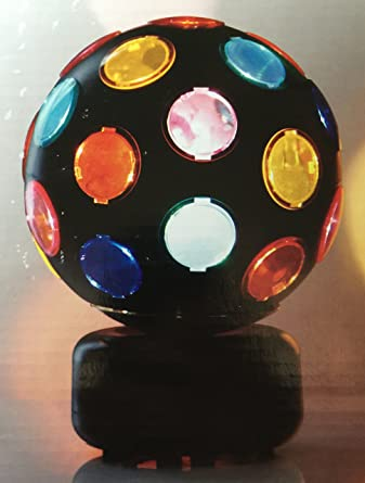 Style Selections 8 Inch Spinning Disco Ball Lamp - Black Finish