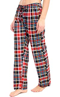 a3c5c45f16 FASHION INSTYLE Women s Ladies Woven Check Pyjama Bottoms Perfect For  Loungewear