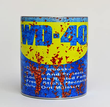 WD-40 aceite puede inspirado en oxidado regalo 10Z té/café taza ...