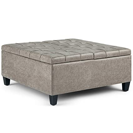 Prime Amazon Com Ilunar Classic White Distressed Storage Ottoman Beatyapartments Chair Design Images Beatyapartmentscom