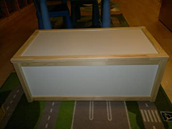 Ikea Wooden Storage Box   Toy Box   Pine And White