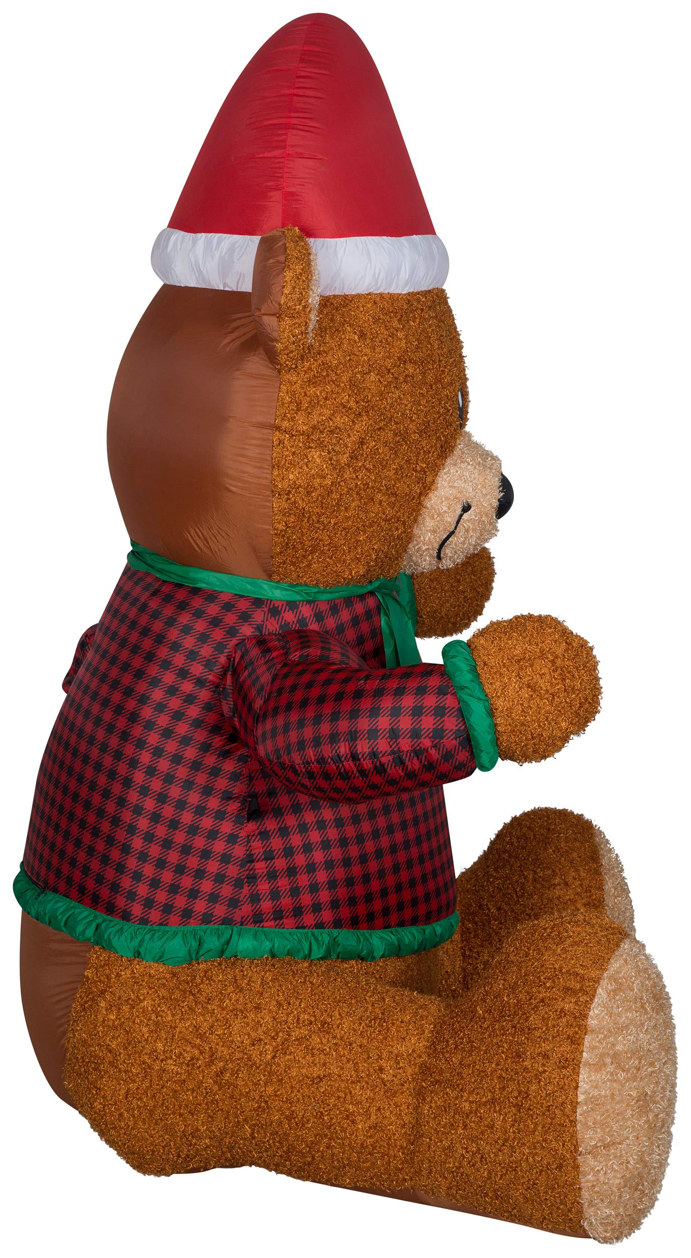 Gemmy 111726 Mixed Media Hugging Teddy Bear-Giant Christmas Inflatable 7FT TALL x 5FT LONG