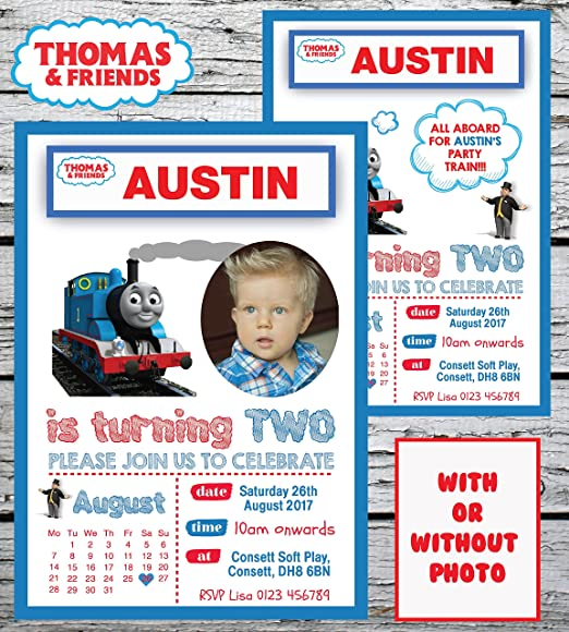 10 Invitaciones Personalizadas de Thomas The Tank Engine ...