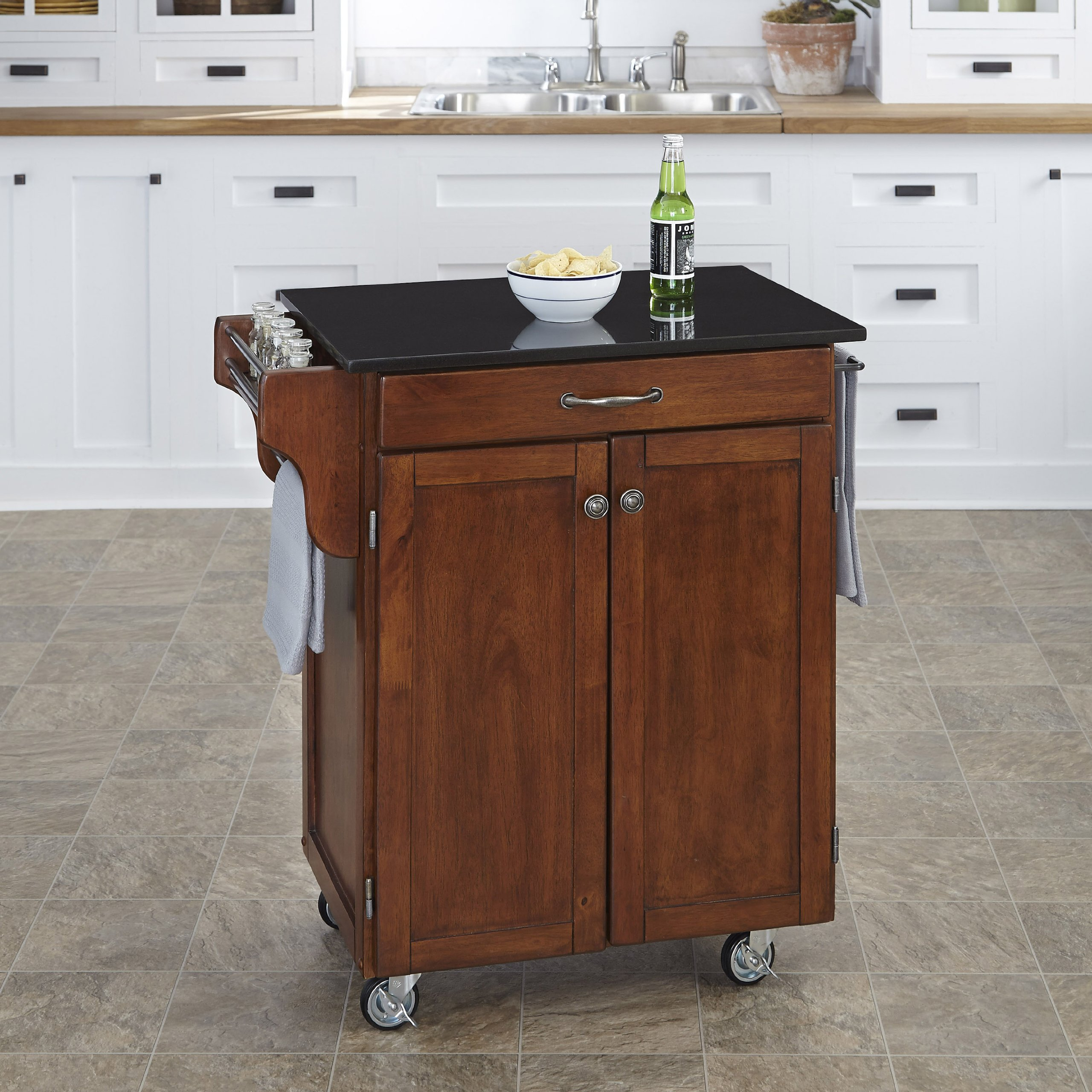 Home Styles 9001-0074 Create-a-Cart 9001 Series Cuisine Cart with Black Granite Top, Cherry, 32-1/2-Inch by Home Styles (Image #2)