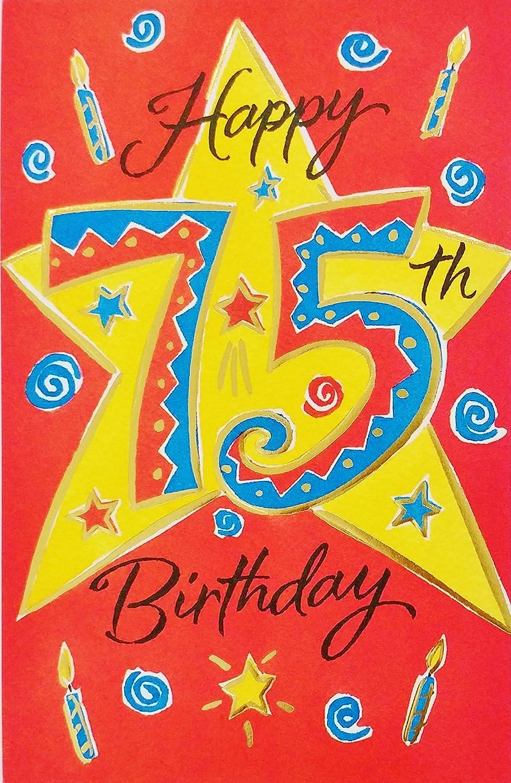 Happy 75th Birthday Greeting Card –