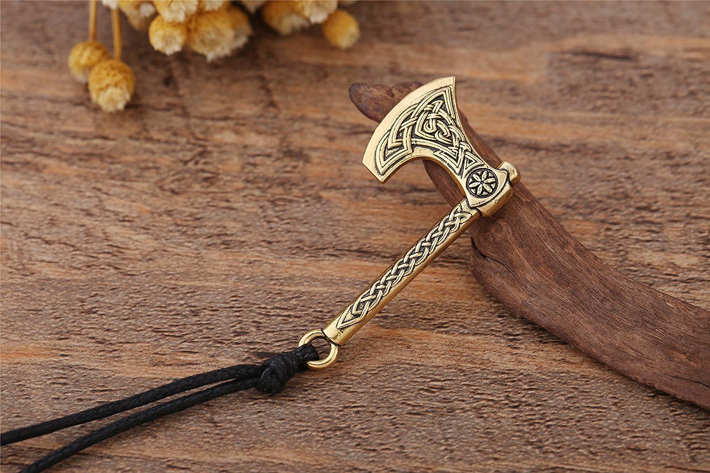 TEAMER Viking Odin símbolo irlandés Nudo, Collar con Colgante de ...