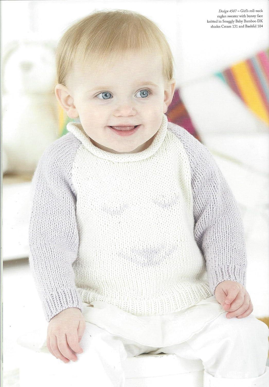 Sirdar-4587 Sirdar Baby Picture Sweaters Knitting Pattern 4587 DK