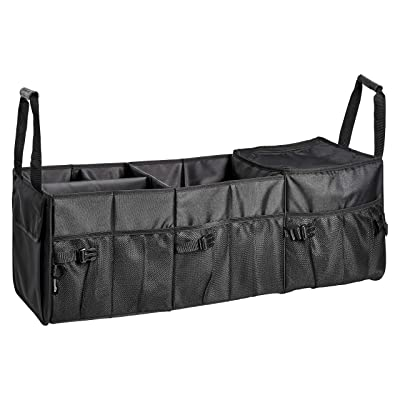 Basics Car Trunk Organizer with Insulated Cooler Bag and Adjustable Compartment: Automotive