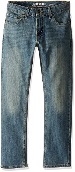 72be0ecd6d5 Amazon.com: Signature by Levi Strauss & C Little Boys' Skinny Jeans ...
