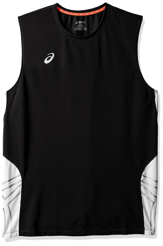 AsicsメンズチームパフォーマンスVolleyballノースリーブTシャツ B00IWLVTNG ブラック/ホワイト XX-Large