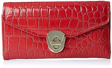 Aquatan Women's Diva Croco Leather Wallet Bright Red AT-W-50