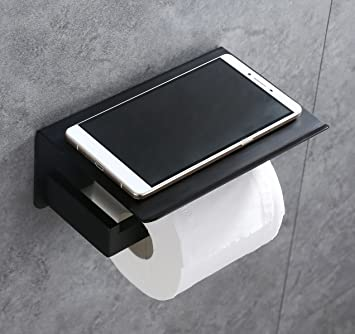 toilet paper holder apl sus304 stainless steel bathroom paper tissue holder with mobile phone storage