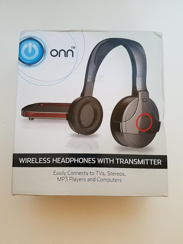 1cf3da94b10 Onn ONA14AA011 Wireless Over-Ear Headphones with Transmitter - Black:  Amazon.ca: Electronics