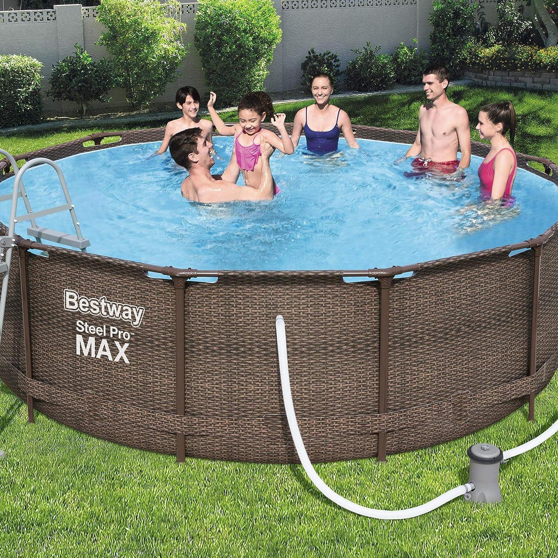 Bestway Steel Pro MAX Deluxe Series Framepool-Set, rund, mit ...