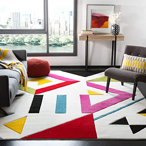 Safavieh Hollywood Collection HLW700A Mid-Century Modern Non-Shedding Stain Resistant Living Room Bedroom Area Rug