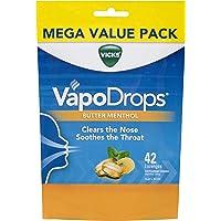 Vicks VapoDrops Butter Menthol Lozenges, 42 count