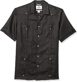 70ae19a7f5 Cubavera Men s Short Sleeve 100% Linen Cuban Camp Guayabera Shirt at ...