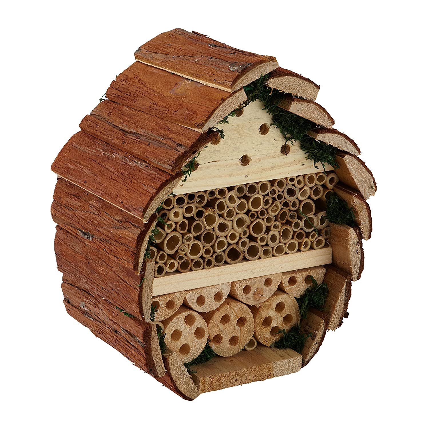 Insect Log Cabin Bee and Bug Home Insect Hotel with Flower Seeds For Bees Bee Proof Suits