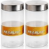 Pearlpet Plus PET Plain Jar Set, 1.7 Litres, Set of 2