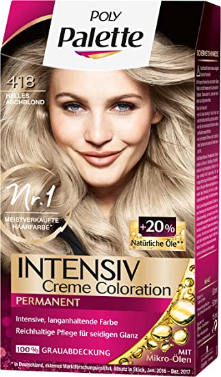 Haarfarbe helles aschblond