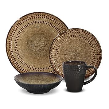 Pfaltzgraff Cambria 16-Piece Stoneware Dinnerware Set Service for 4  sc 1 st  Amazon.com & Amazon.com | Pfaltzgraff Cambria 16-Piece Stoneware Dinnerware Set ...