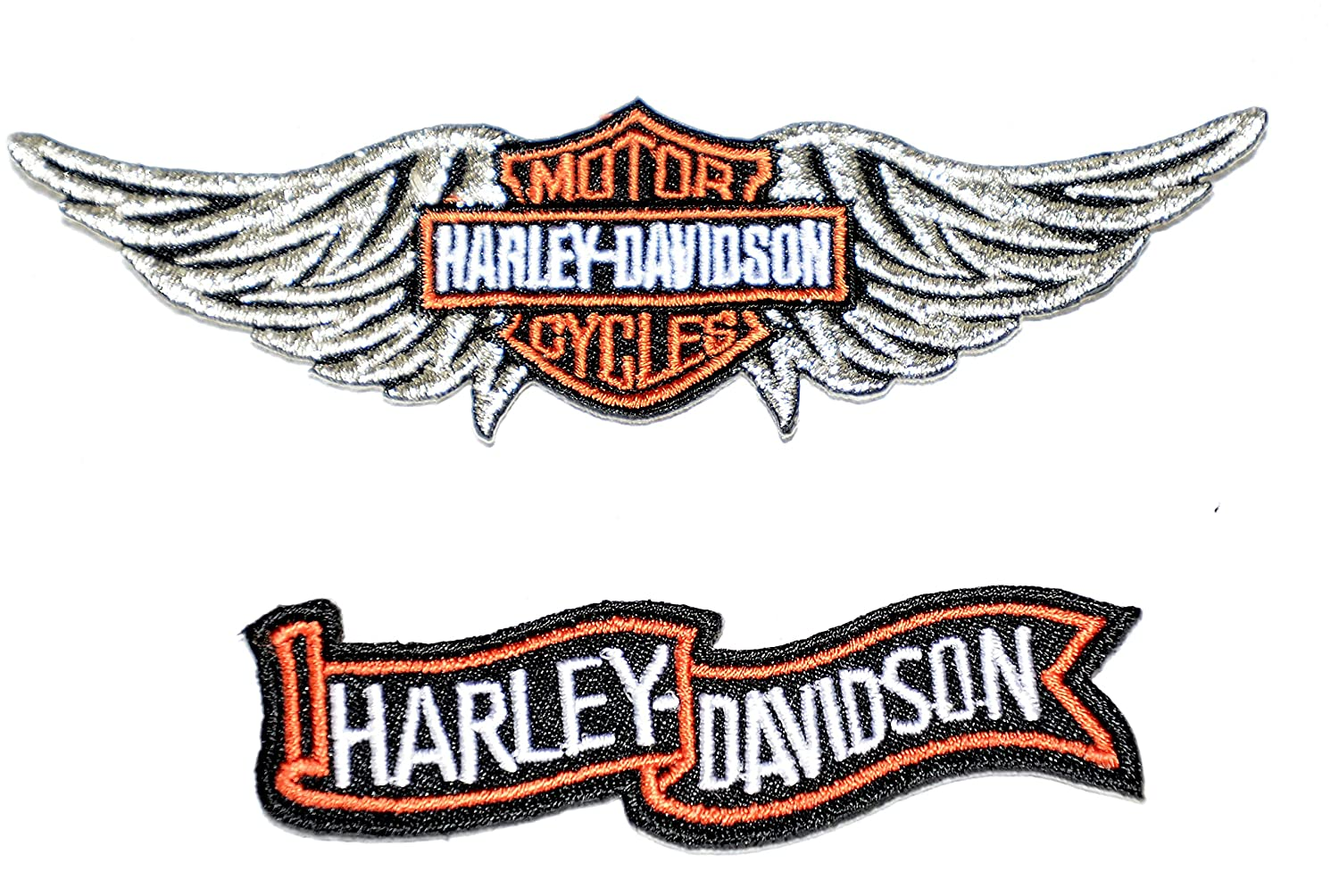 Born to be Wild Harley Davidson Motor Cycles Next Day Delivery .Sold by Deal from Home Set of 2 Small Harley Davidson Iron On Patches Sent from u.k