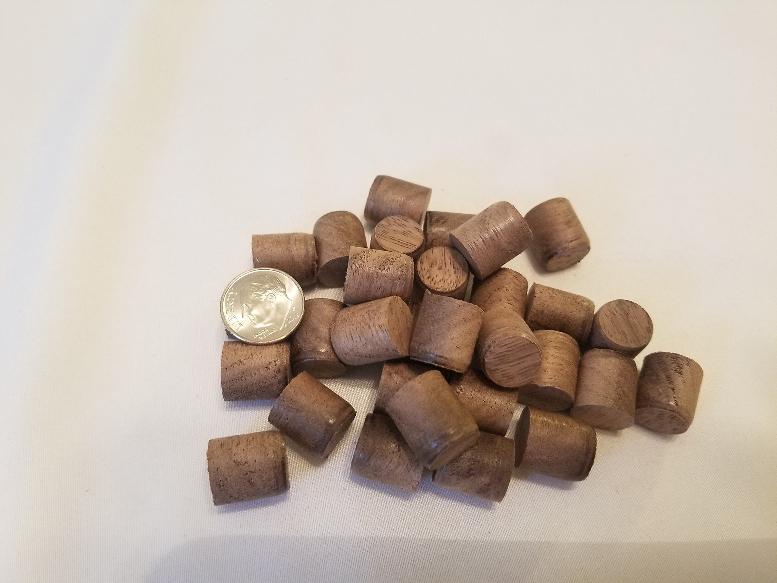 Walnut Tapered Wood Plugs - 30 Count (1/2 x 30)