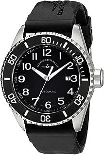 Zeno Mens 6492-2824-A1 Divers Black Rubber Strap Watch