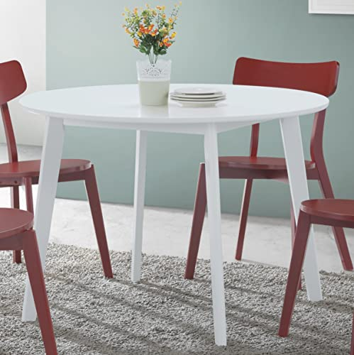 Roundhill Furniture Roma Contemporary Round Dining Table