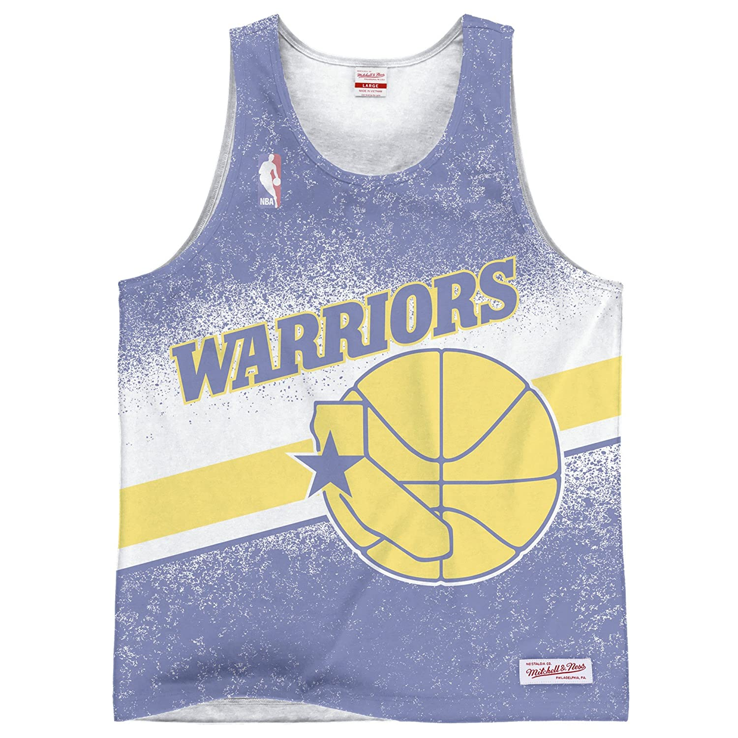 2a0893a7a495b Amazon.com   Mitchell   Ness Golden State Warriors Clock Violation Color  Fade Tank Top Shirt   Sports   Outdoors