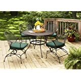 magnificent better homes and gardens englewood heights. Better Homes and Gardens Clayton Court 5 Piece Patio Dining Set  Green Seats Amazon com Englewood Heights II 7 6