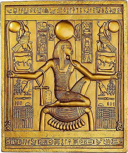 Design Toscano Egyptian Temple Stele Tutankhamen Plaque