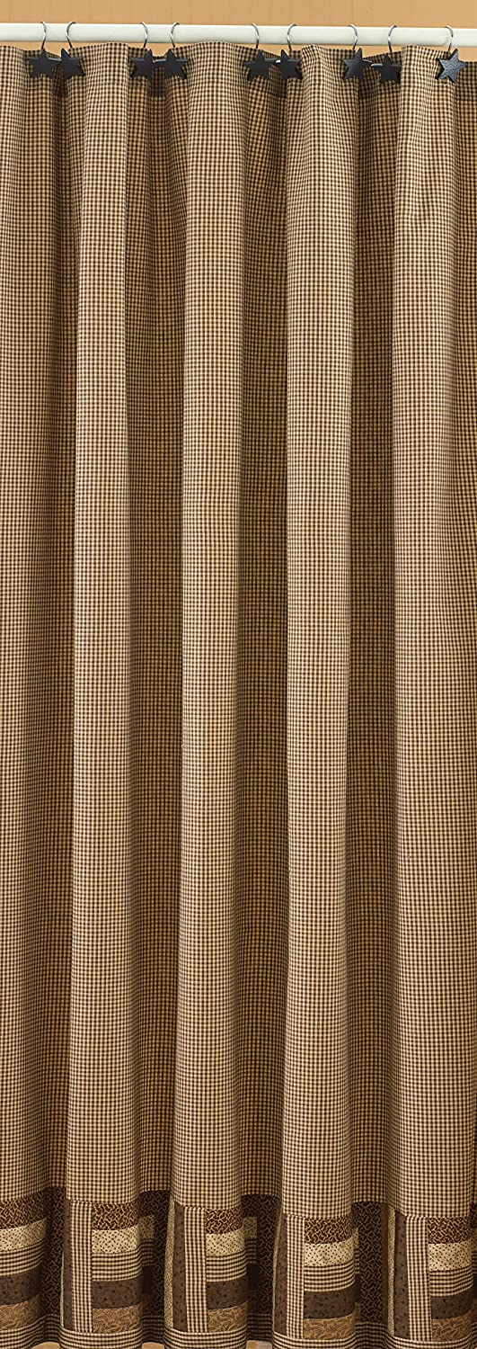 hot sale 2017 Park Designs Shades of Brown Shower Curtain, 72 by 72 ...