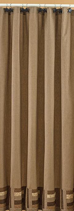 Amazon.com: Park Designs Shades of Brown Shower Curtain, 72 by 72 ...