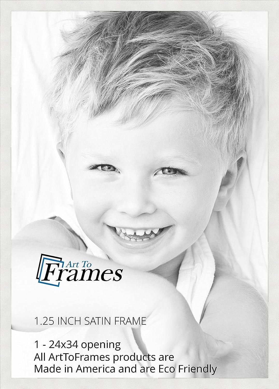 Amazon.com - ArtToFrames 24x34 inch Satin White Frame Picture Frame ...